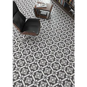 Wickes Harrow Grey Ceramic Floor Tile 316x316mm