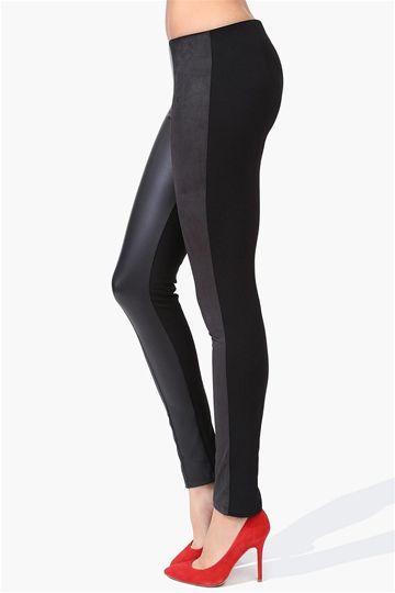 On Point Suede Leggings in Black. trendy