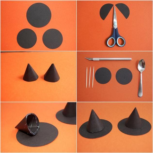 DIY pour Halloween chapeau sorciere