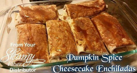 Pumpkin Spice Cheesecake Enchiladas. ☆ Thank you all for passing my things around and sharing ☆ Ingredients: 1 8 oz. package of cream cheese, softened 1 cup canned pumpkin 1/2 cup sugar 1/2 tsp...