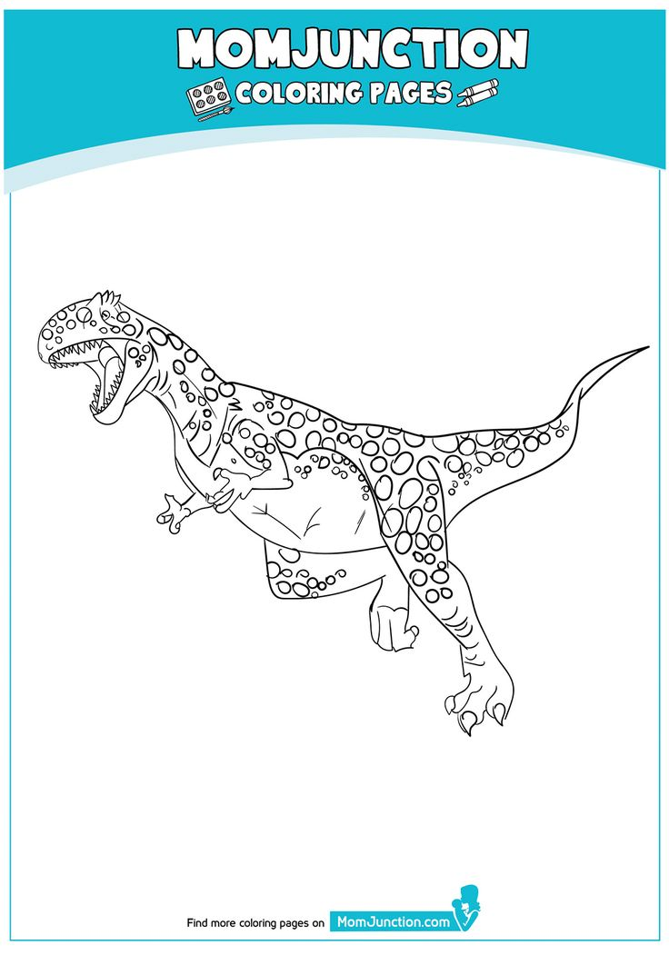 Megalosaurus With Images Coloring Pages Color Mom Junction