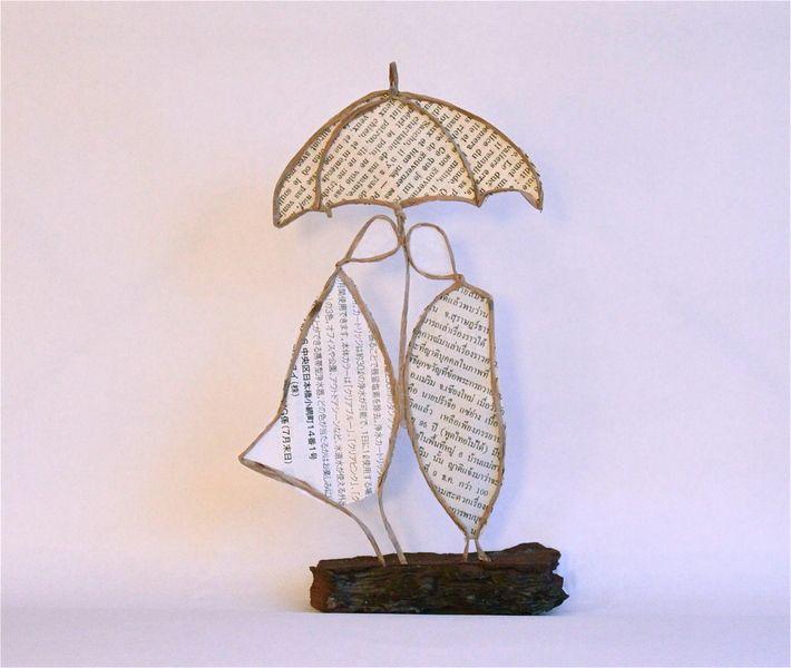 Couple+au+parapluie+de+Epistyle+sur+DaWanda.com