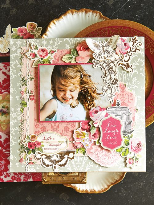 The ©Anna Griffin, Inc. Grace Collection fuses polished elegance and a contemporary color palette, featuring lush graphically painted roses, lively damasks brushed with bright fuschia and gorgeous green and gorgeous green and pink die cut designs! This designer kit is available on hsn.com for $34.95