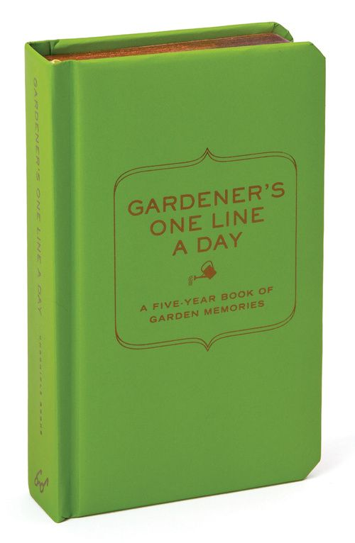 Gardener's one line a day - chronicle books - 9781452119533