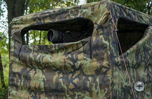 Kétszemélyes egy perc alatt felállítható vadász lessátor.