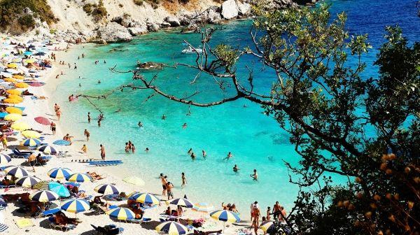Agiofili beach in Lefkada island