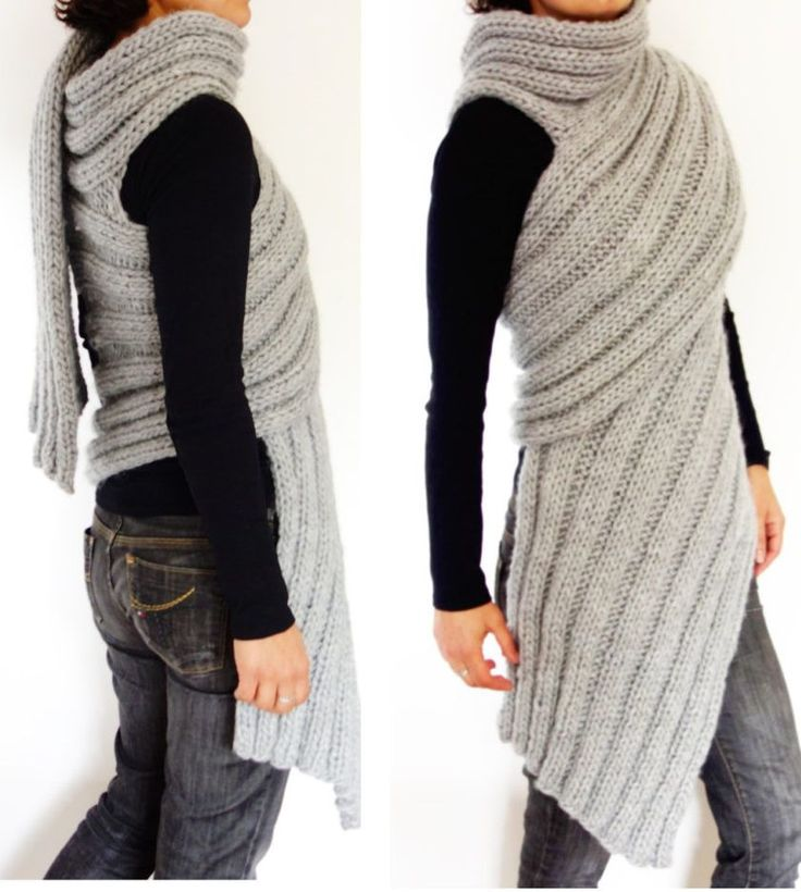 Knitting Pattern for Zendaya Inspired Wrap Scarf