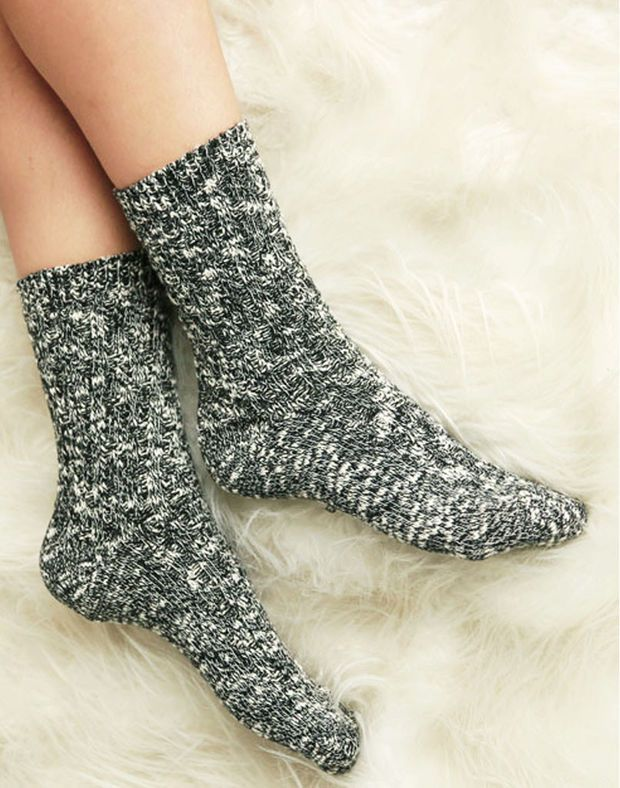 Smokey Cotton Cabin Socks