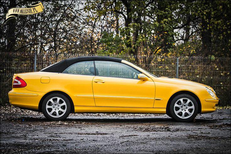 mercedes CLK covered with yellow gloss foil oklejenie mercedesa CLK żółtą folią błyszczącą. www.oklejsie.pl