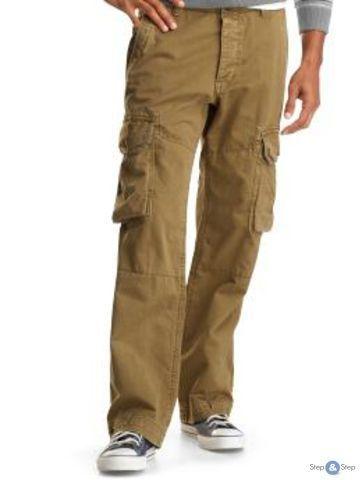 Мужские брюки цвета хаки