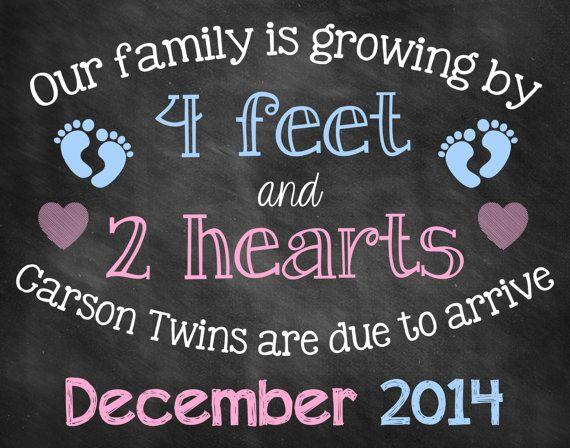 Chalkboard Pregnancy Announcement // by ChalkingItUpBoards on Etsy