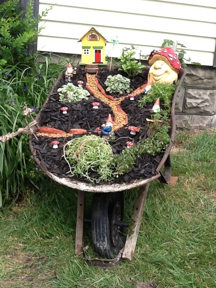 Fairy Garden, Gnome Wheelbarrow