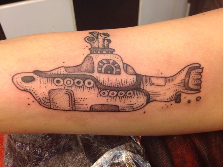 Shaded submarine
