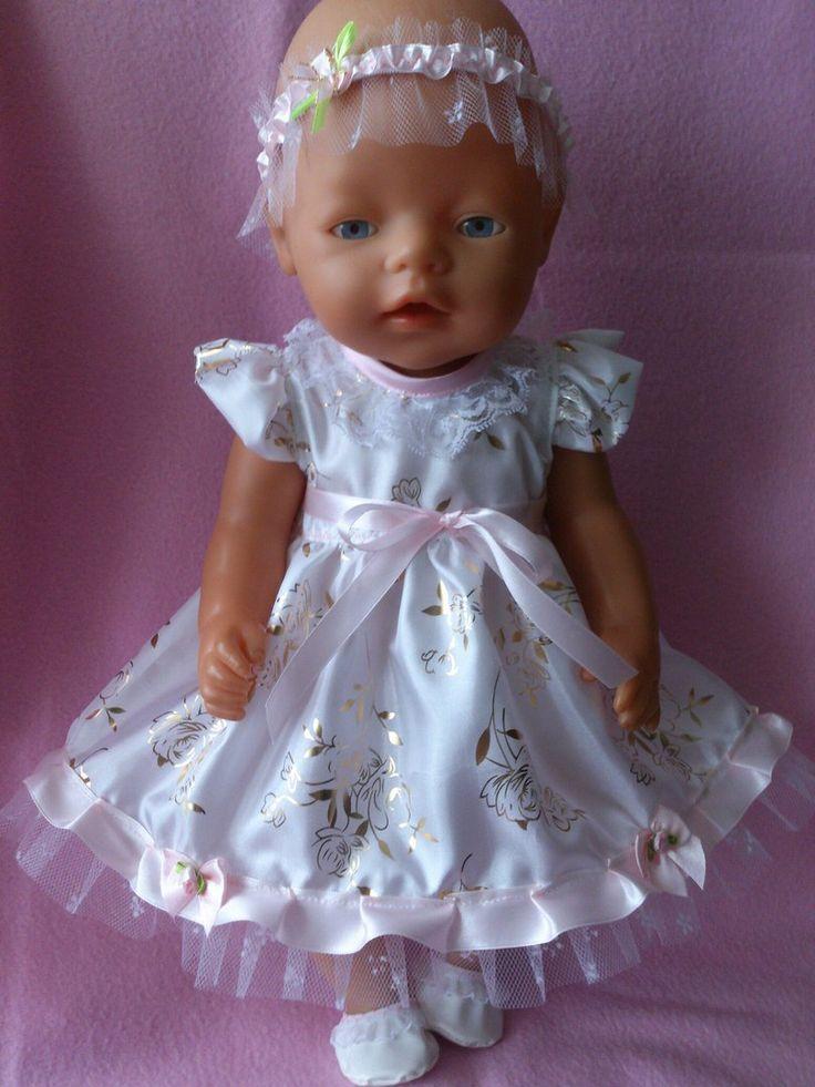 Праздничное платье, тапочки, украшение на голову. Купить или заказать комплект можно в интернет-магазине http://babyborn.220nn.ru/