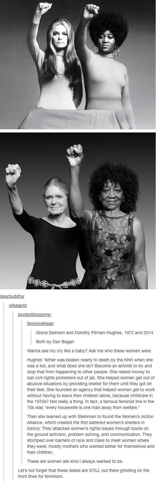 """Gloria Steinem and Dorothy Pitman-Hughes"" .. wow at the text underneath."