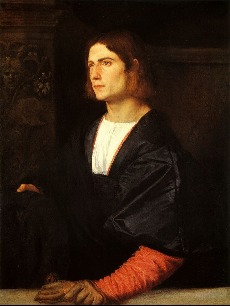 Man with Gloves, Titian, 1515, Venetian, High Renaissance