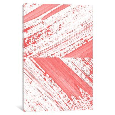 """East Urban Home 'Coral' Painting Print on Canvas Size: 40"""" H x 26"""" W x 0.75"""" D"""