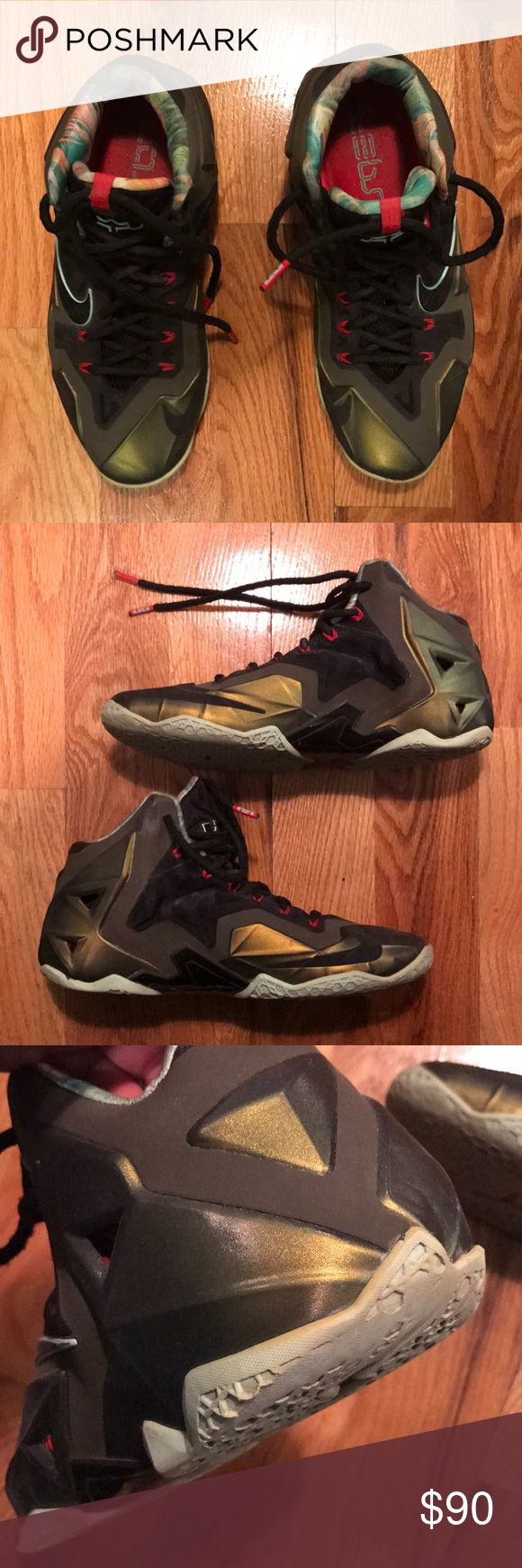Lebron James basketball shoes Used. Very well kept. Unisex shoes. Size 8 in men. Fit a size 9 for women Nike Shoes Sneakers
