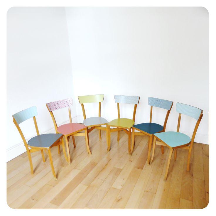 6 chaises vintage -