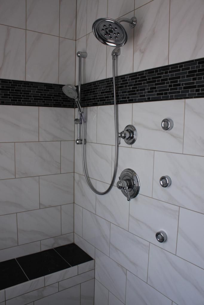 American Olean Mirasol Bianco Carrara Shower Ideas In