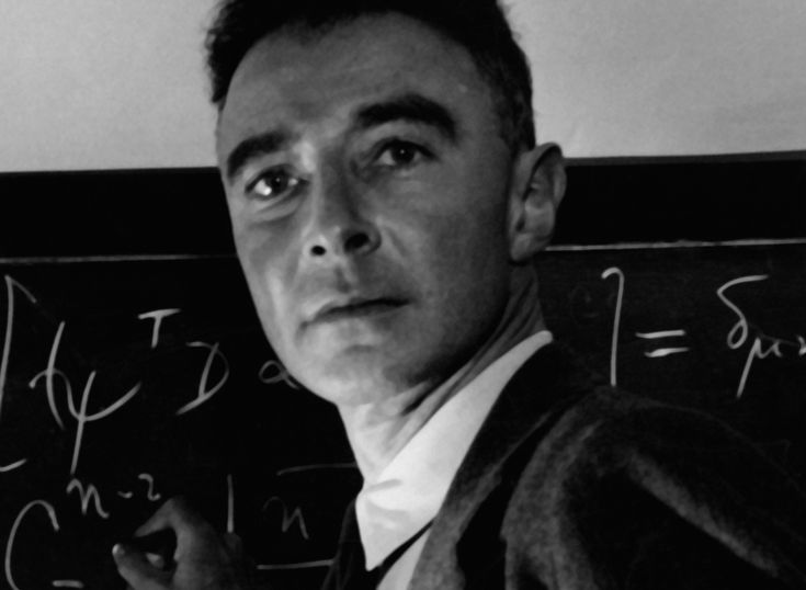 J.Robert Oppenheimer. Father of the Bomb. The brain behind the Manhatten Project. Brilliant.genius.