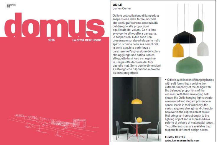 ODILE on Domus of June! Design Paolo Cappello.   #lumencenteritalia#ODILE# Paolo Cappello #lightcreativityinnovation#Domus#Design