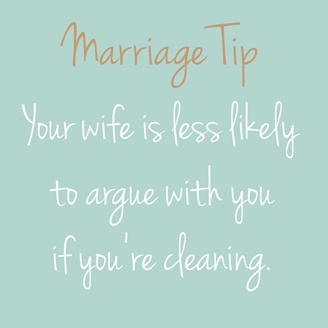 Funny marriage advice!