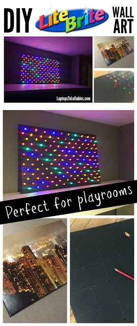 Laptops to Lullabies: Supersized DIY Lite-Brite wall art -- perfect for a playroom!
