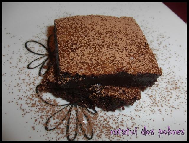 ratatui dos pobres: Brownies de chocolate pegajosos