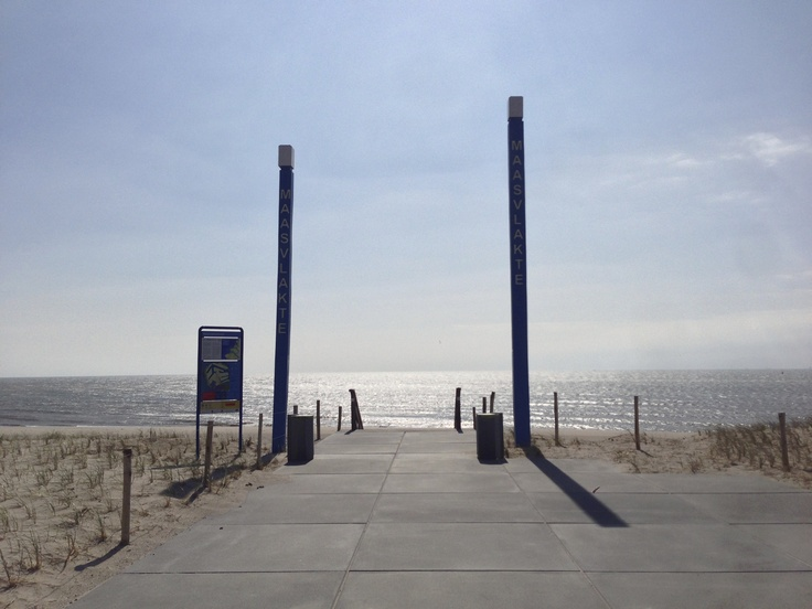 Tourist entrance to the beach on 2nd Maasvlakte in Rotterdam
