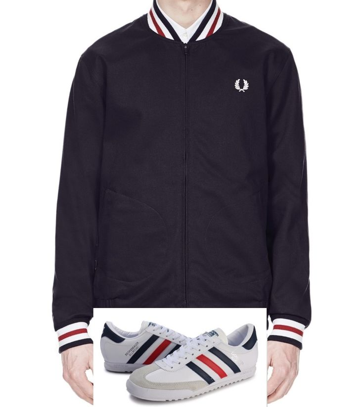 Fred Perry Tennis Bomber in navy looks cool teamed up with Beckenbauer All Rounds in white/navy/red - game, set and match!