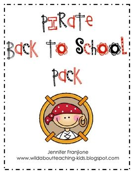 pirate back to school pack
