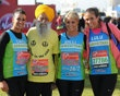 101-year-old's last marathon  A look at 101-year-old Fauja Singh's marathon achievements in the last few years. Fauja Singh ran his last marathon in London on Sunday.  LONDON, ENGLAND - APRIL 22: Cara Kilbey, Fauja Singh, Billi Mucklow and their friend Lulu pose for the camera during the Virgin London Marathon 2012 on April 22, 2012 in London, England.