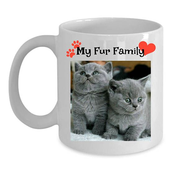 Fur Family Coffee Mug Furbaby Coffee Mug Pet Picture Mug