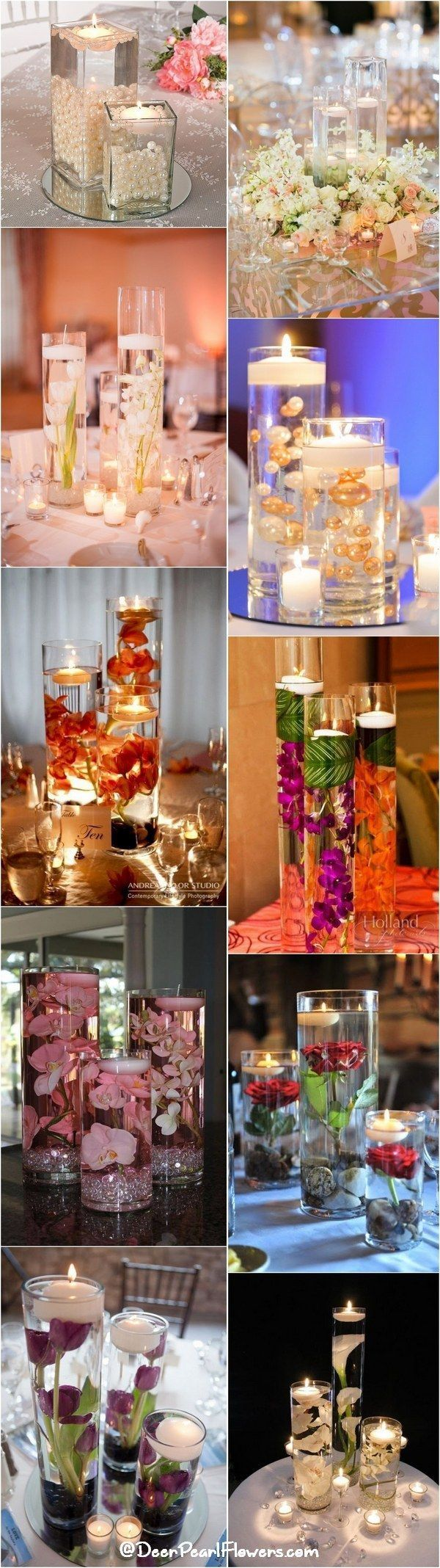 Floating wedding centerpiece ideas / http://www.deerpearlflowers.com/floating-wedding-centerpieces/