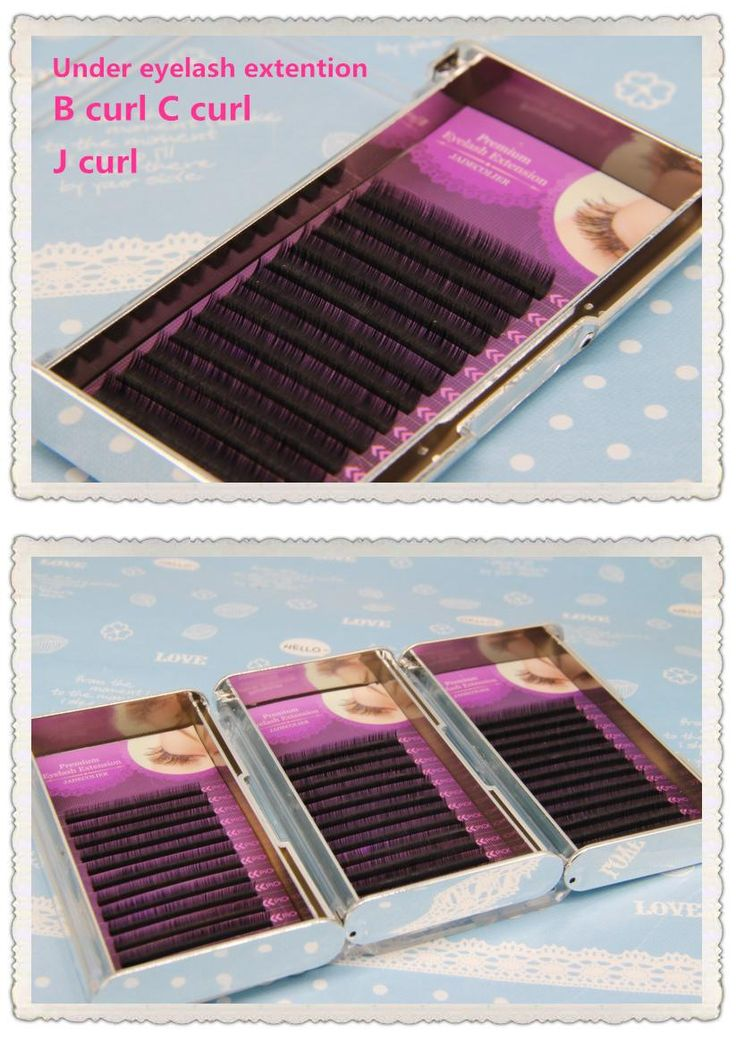 [Visit to Buy] Free shipping 1 tray High quality J Curl B Curl C Curl 5mm 6mm 7mm natural long under eyelash extention makeup lower lashes #Advertisement
