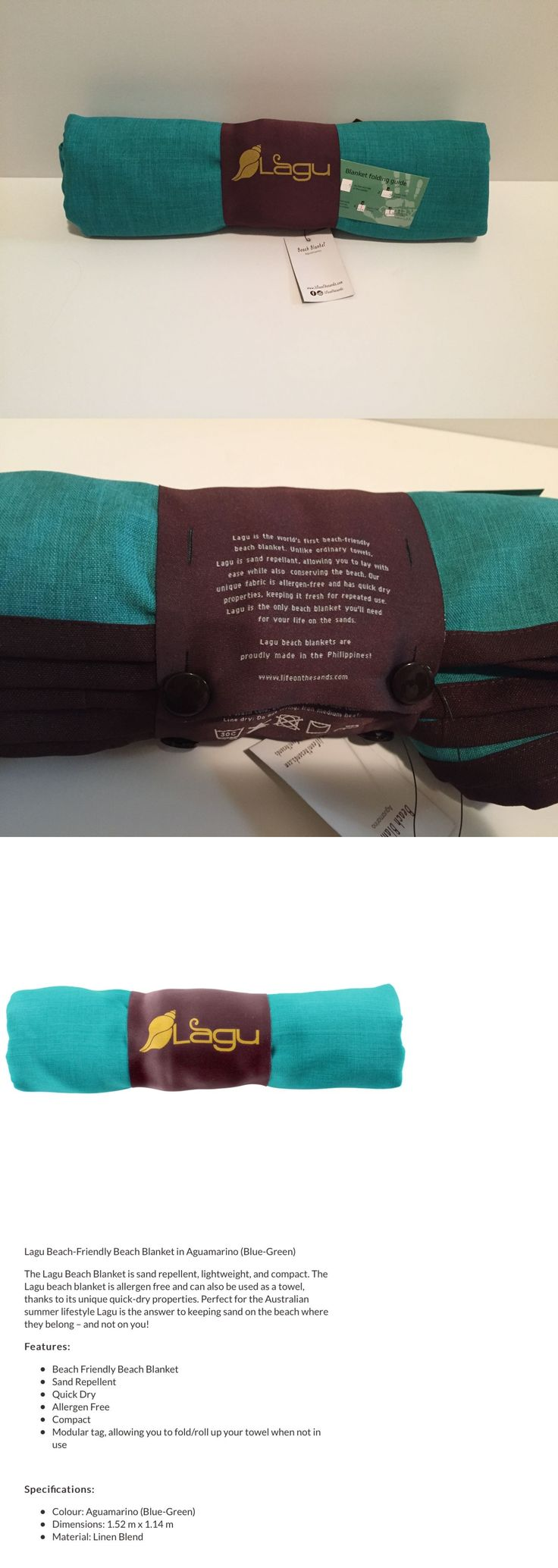 Blankets and Liners 111261: Lagu - Sand-Repellent Beach Blanket Aguamarino (Teal) Regular (45 X 60) -> BUY IT NOW ONLY: $39.99 on eBay!