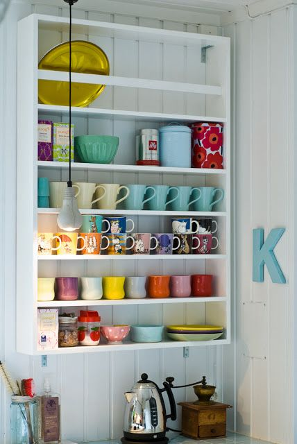 coffee mug display.