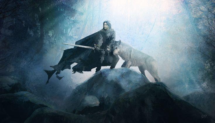 Jon and Ghost #agot #got #asoiaf