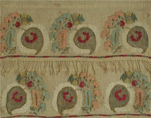 Ottoman Turkish Embroidered Towel