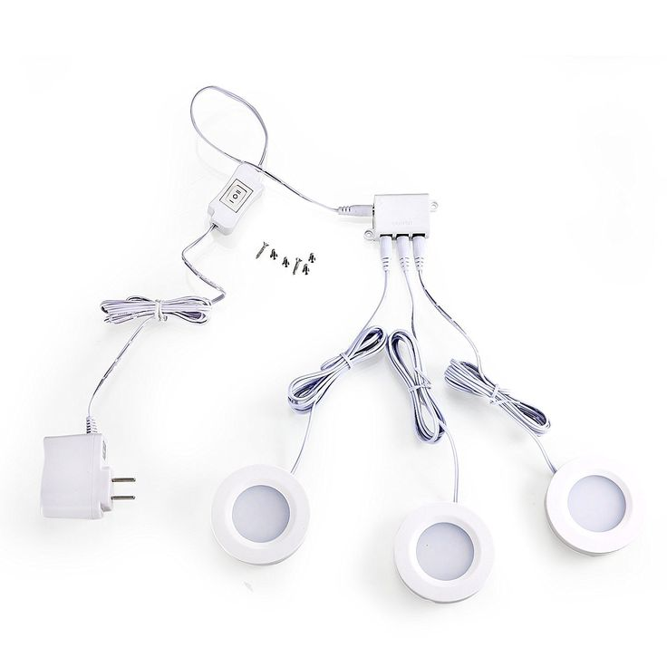 GetInLight LED Puck Lights Kit, Recess or Surface Mount Design, Soft White 3000K, White Finished, ETL Listed, Non Dimmable, (Pack of 3), IN-0102-3-WH - - Amazon.com