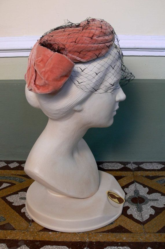 1920 Fascinator Vintage in velluto Jean di NouvelleVieAtelier