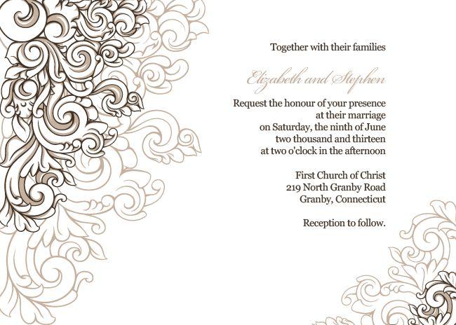 25+ Cute Free Wedding Invitation Templates Ideas On Pinterest | Diy Wedding  Invitations Templates, Wedding Invitation Templates And Wedding Invitation  Card ...