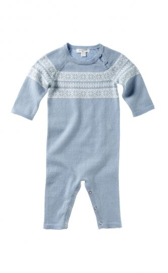 Knitted Fairisle Growsuit - Purebaby