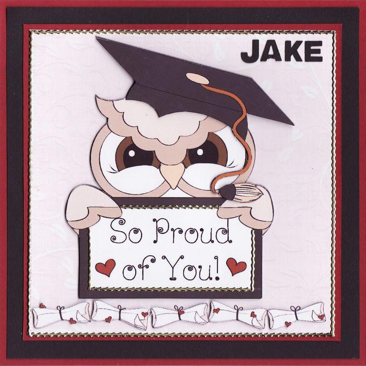 3D Owl 'So Proud of You!' Graduation Card (by Tassie Scrapangel)
