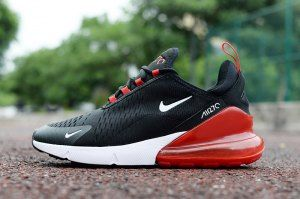big sale 6bcd3 78d66 Mens Nike Air Max 270 Black Red White Sneakers | Nike Air ...