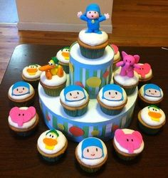 Pocoyo Cupcakes - Marvaliss Cupcakes