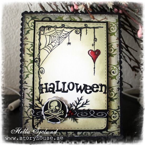 Halloween card in black and green by HellaBella - Cards and Paper Crafts at Splitcoaststampers