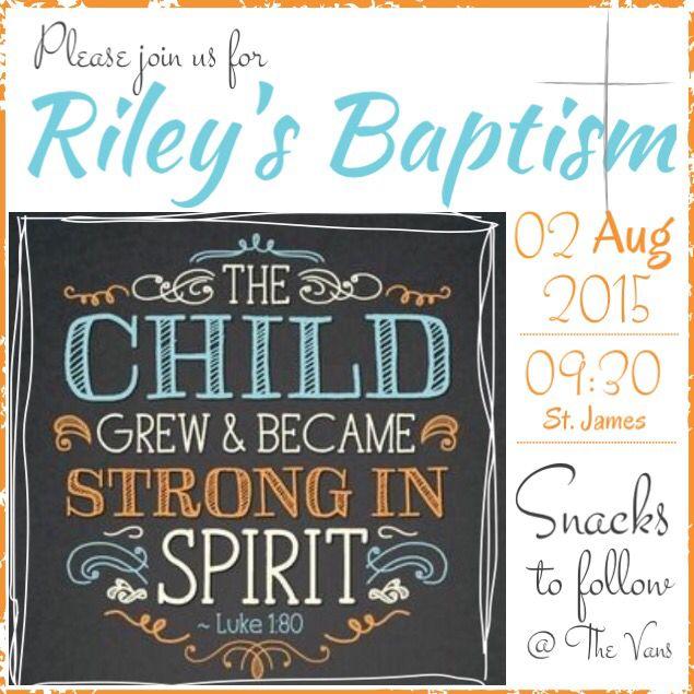 Riley's Baptism invite