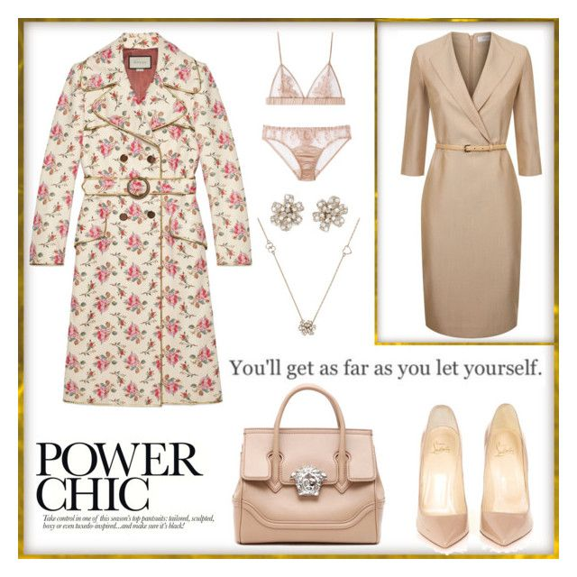 """""""Untitled #320"""" by joanna-tabakou on Polyvore featuring Gucci, MaxMara, Christian Louboutin and Versace"""